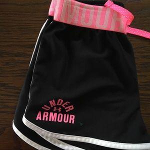 Black Under Armor athletic shorts